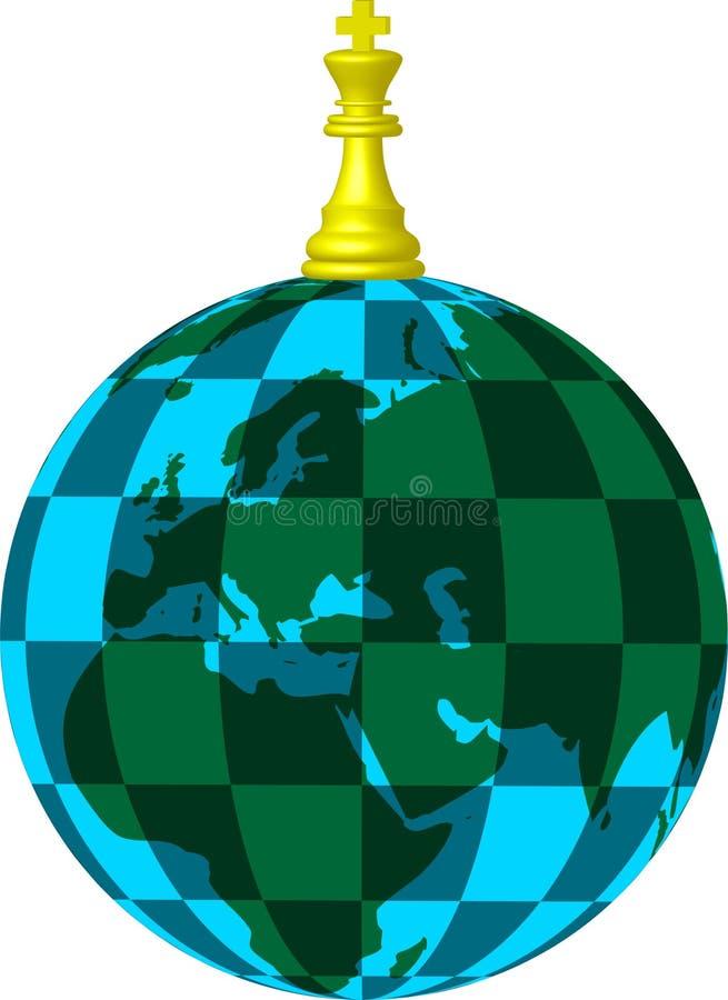 Chess planet vector illustration