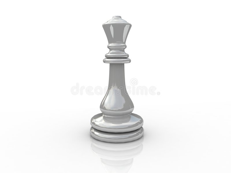 Chess queen. Background picture of chess board stock illustration