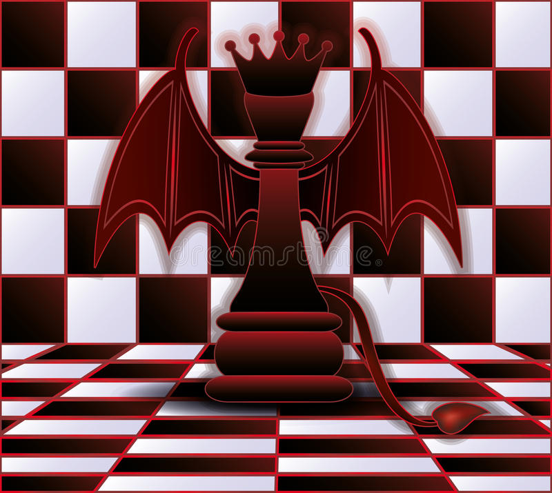 Chess Queen devil royalty free illustration