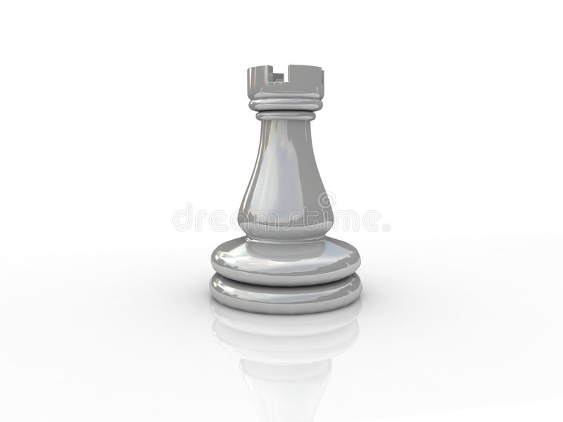 Chess rook. Background picture of chess board royalty free illustration