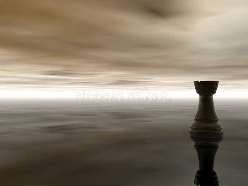 Chess rook royalty free illustration