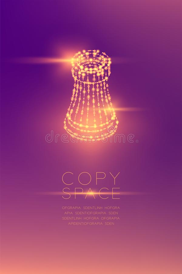 Chess Rook isometric wireframe polygon futuristic bokeh light frame structure and lens flare, Business strategy concept design ill vector illustration