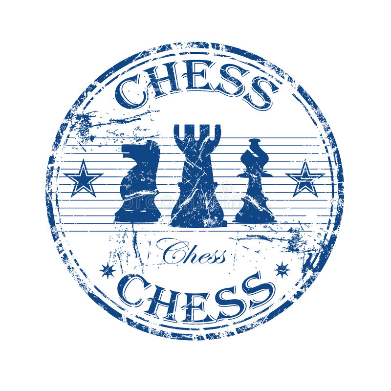 Chess rubber stamp stock illustration
