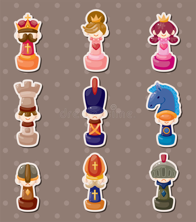 Chess stickers royalty free illustration