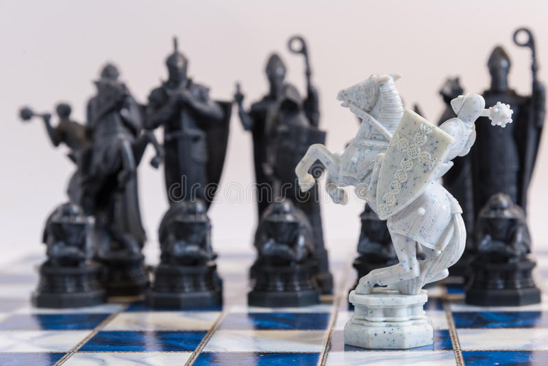 Chess, A Strategic game of conquering. An international board game with a strategic planning to defeat the opponent stock images