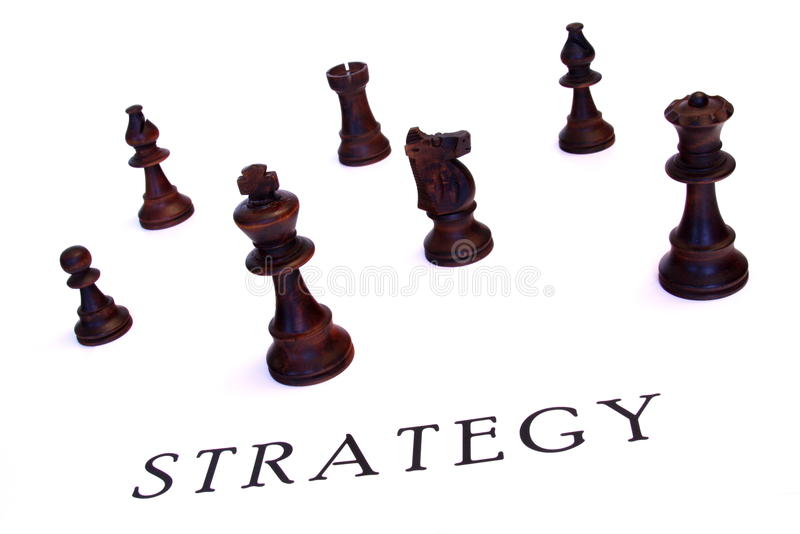 Chess strategy royalty free stock images