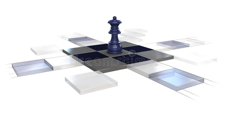Chess strategy royalty free illustration