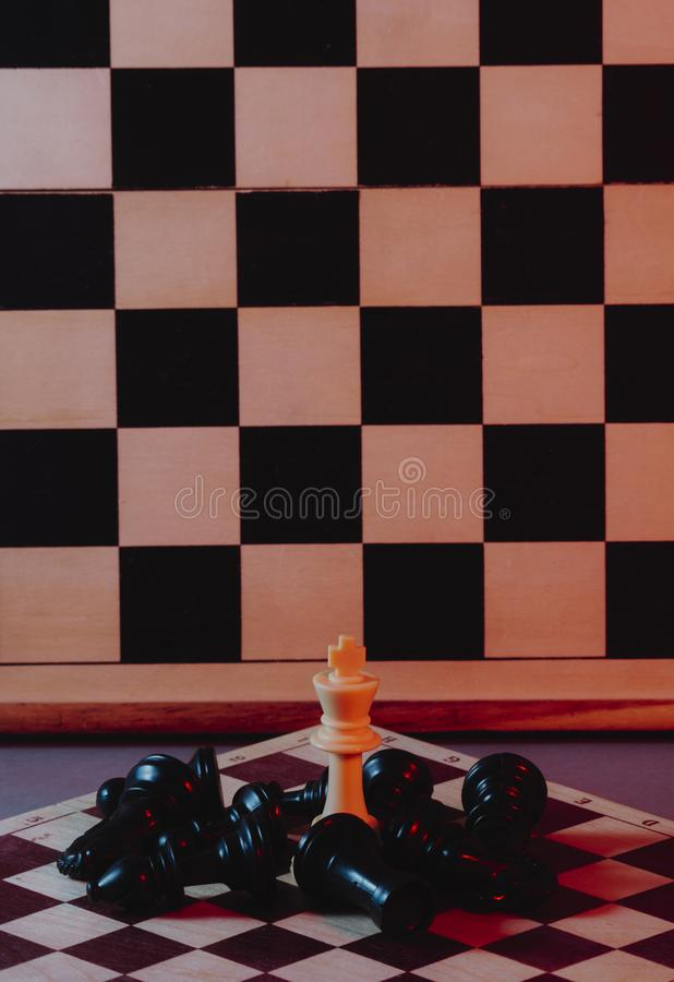 Chess is an strategy and intelligence board game royalty free stock photo