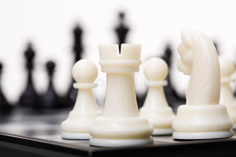 Chess. On a studio background stock photo