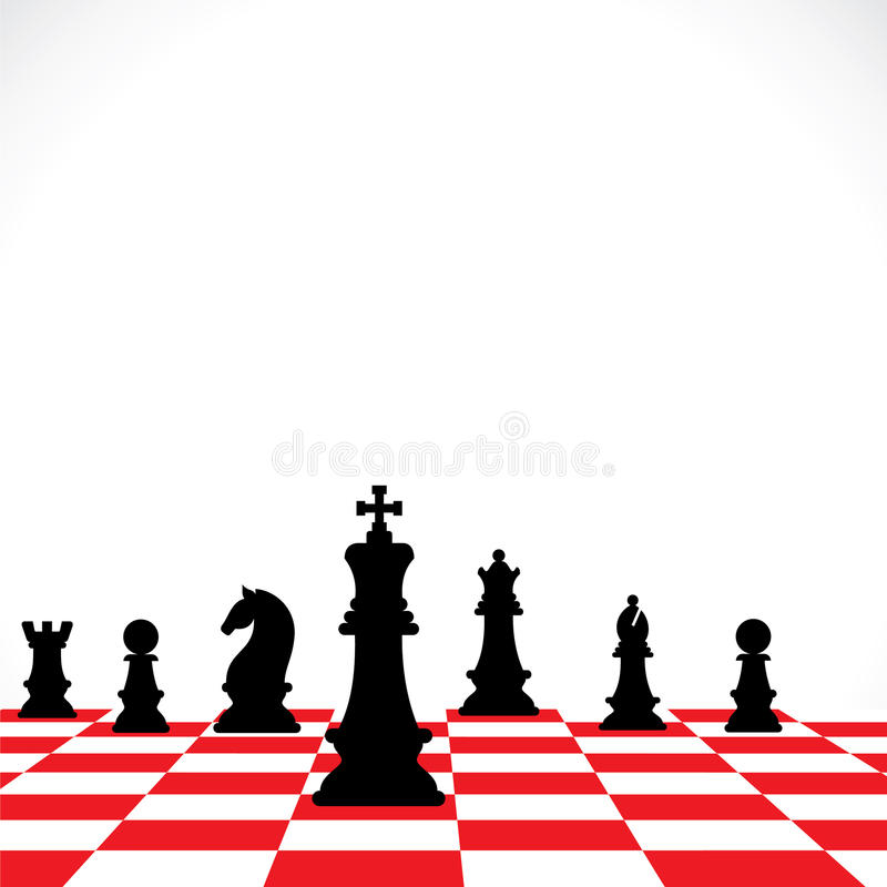 Chess teamwork concept royalty free illustration