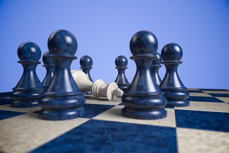 Chess: teamwork stock image
