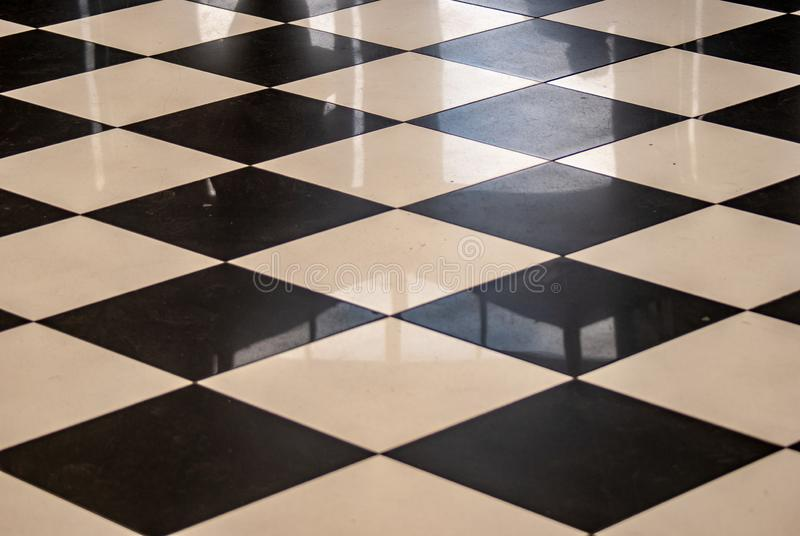 Chess Tiled floor stock photography