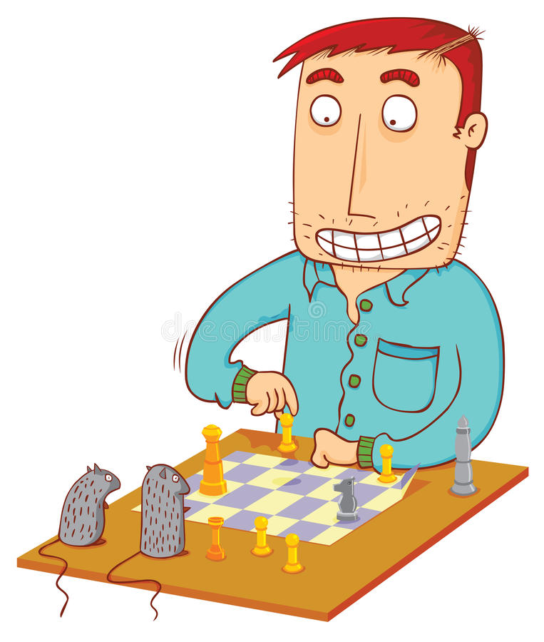 Chess time with mouses stock illustration