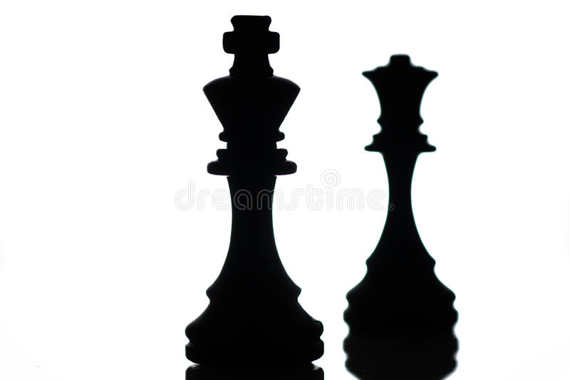 Chess. Two black chess pieces on a board royalty free stock photos