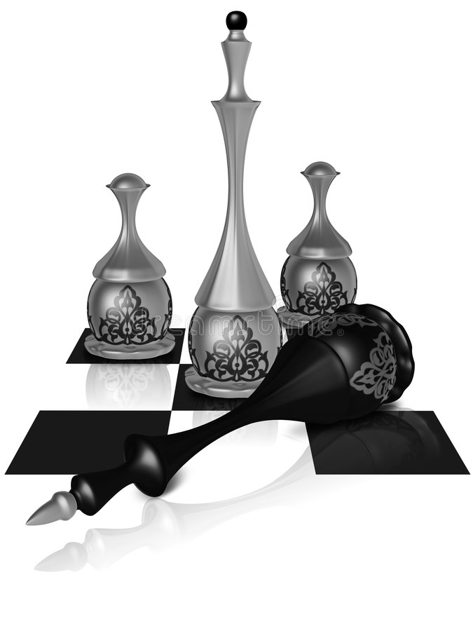 Download Chess victory stock illustration. Image of strategy, decoration - 7433439