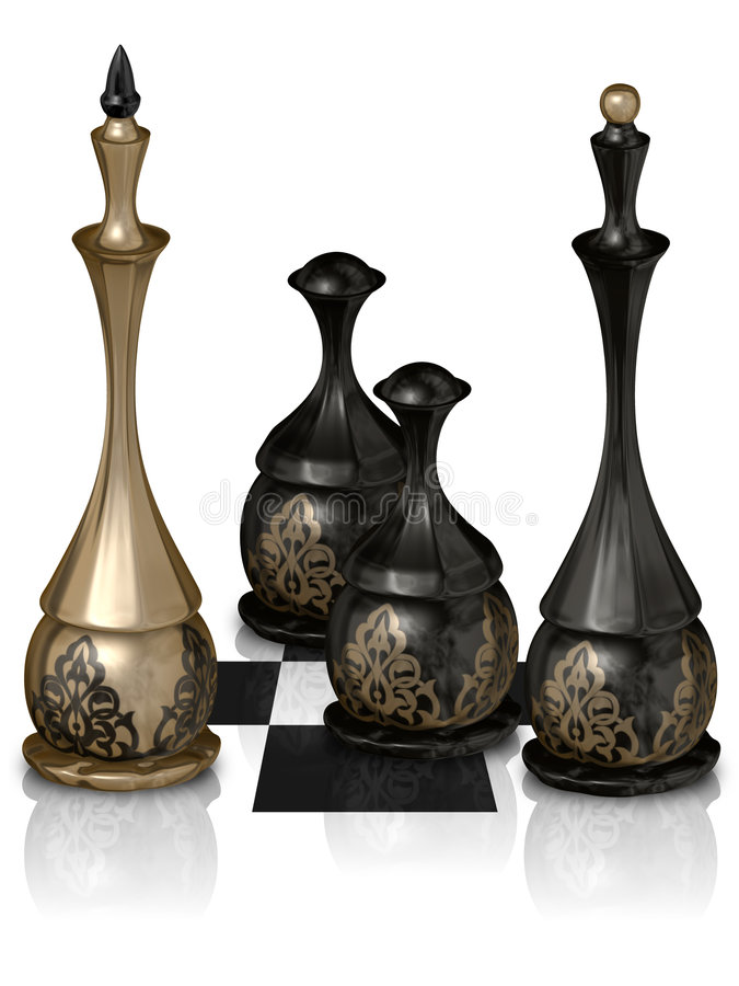 Download Chess victory stock illustration. Image of black, metal - 7433586