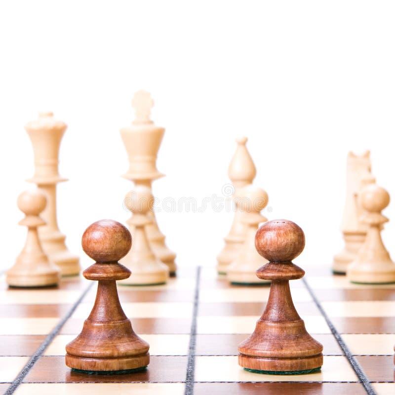 Chess on white.