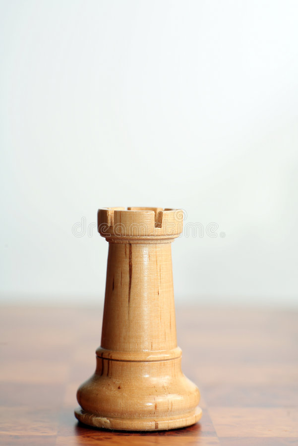 Chess white rook stock images