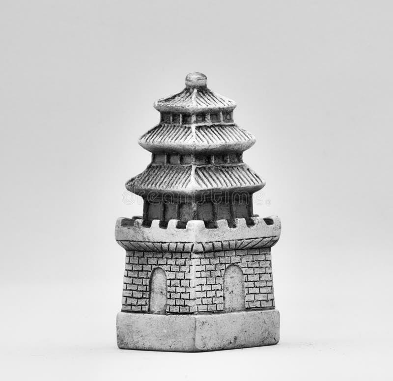 Chess white tower figure. Asia style royalty free stock photos