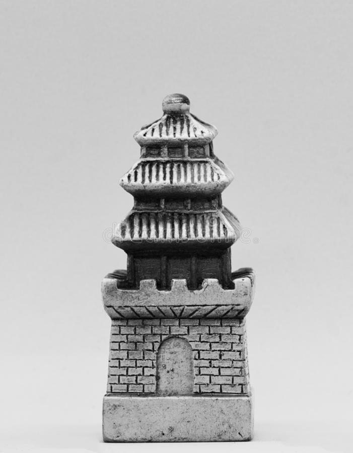Chess white tower figure. Asia style stock images