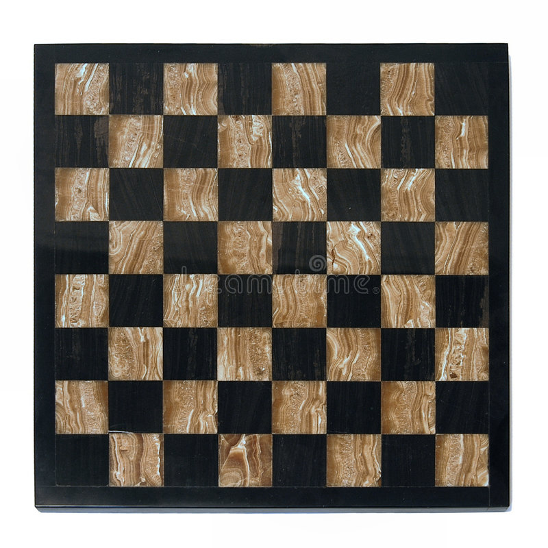 Chessboard. Isolated on white background stock image