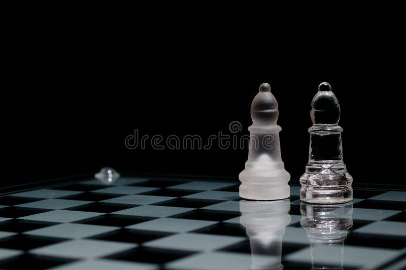 Download On chessboard stock image. Image of figure, bishop, glass - 21064559