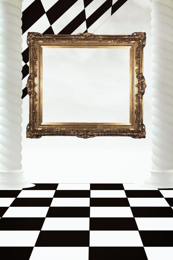 chessboard abstrakcjonistyczna rama obrazy stock