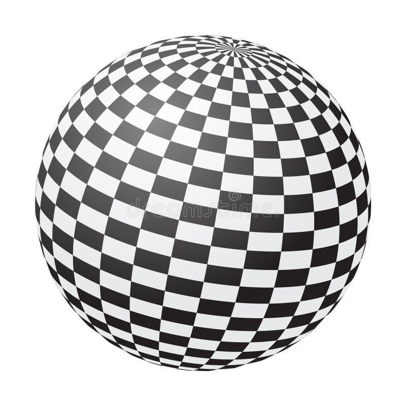 Chessboard Ball Stock Image