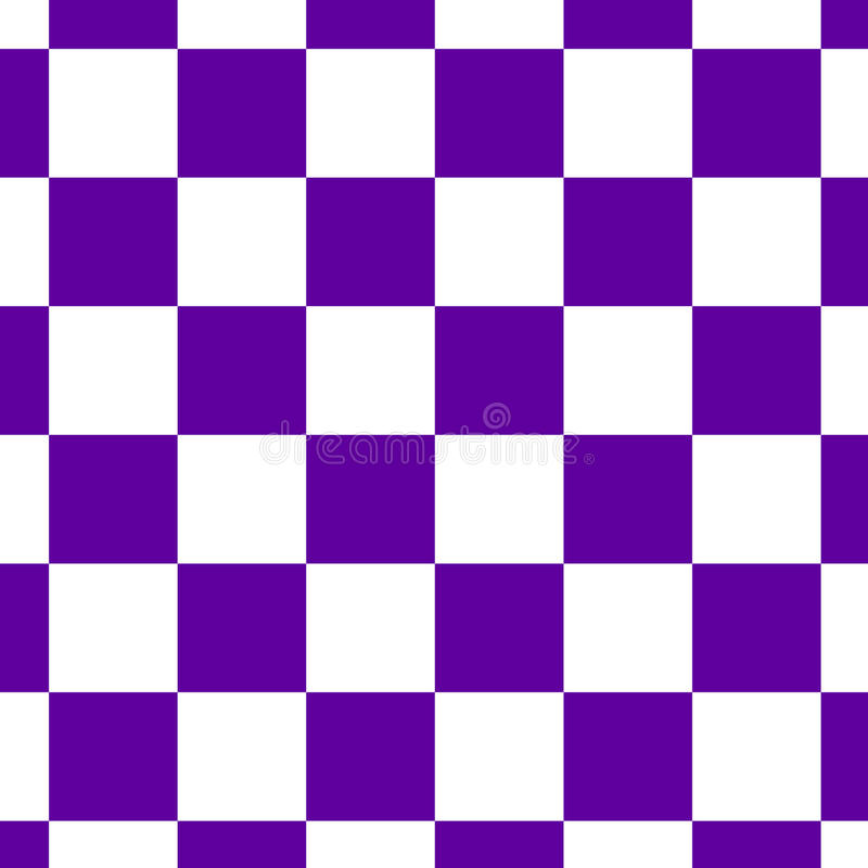 Chessboard or checker board seamless pattern in blue and white. Checkered board for chess or checkers game. Strategy stock illustration