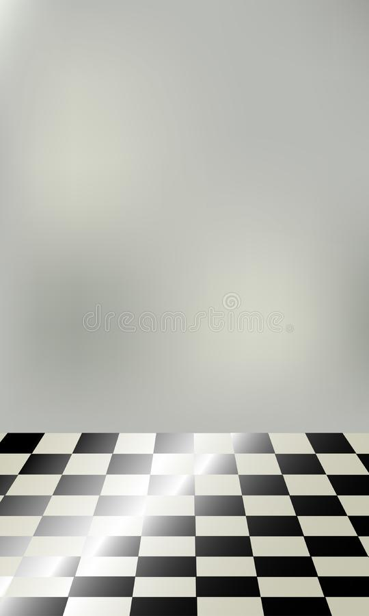 Chessboard floor stock photo