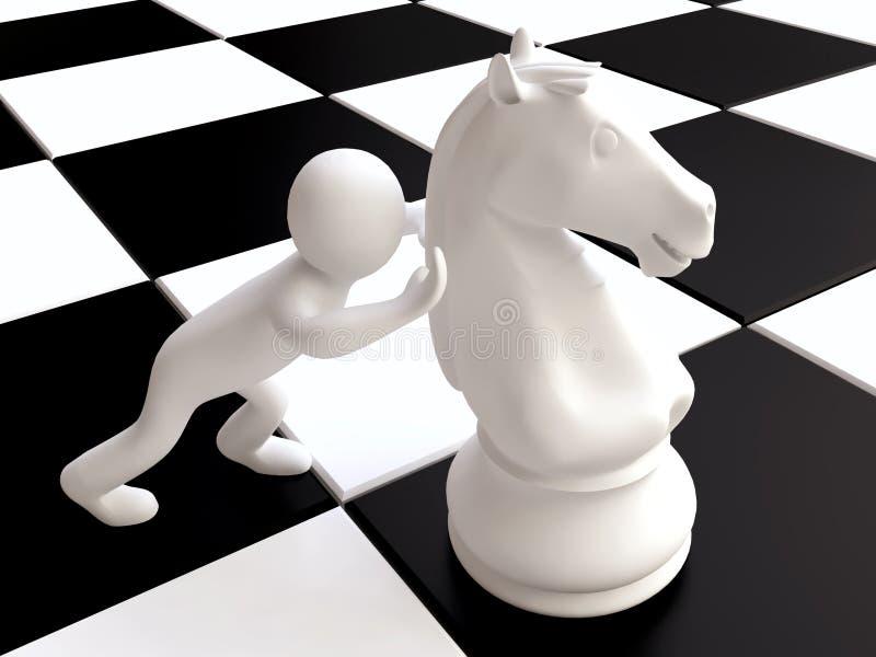 chessboard szachowa postać koński mężczyzna ilustracja wektor