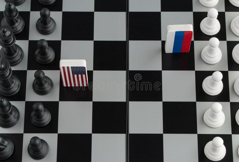 Chessboard z flaga kraje obraz royalty free