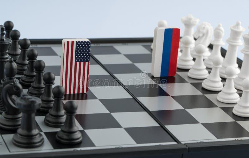 Chessboard z flaga kraje zdjęcie royalty free