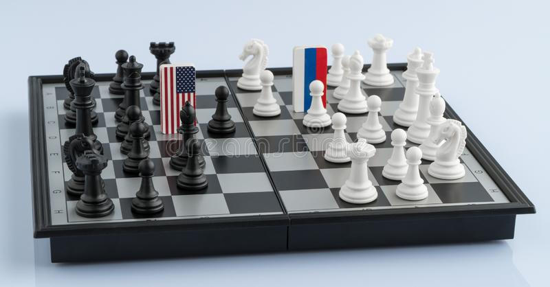 Chessboard z flaga kraje obraz stock