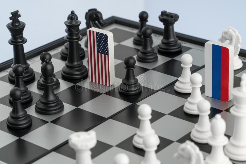 Chessboard z flaga kraje obrazy stock