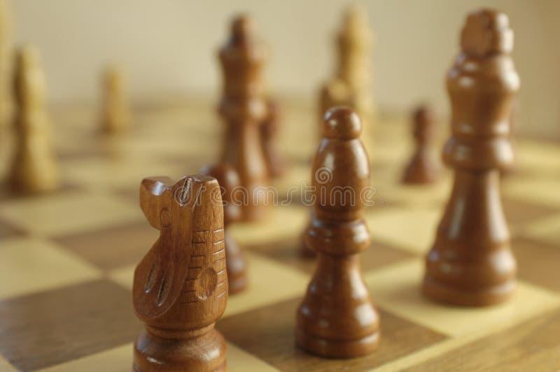 Chessboard z postaciami obraz stock