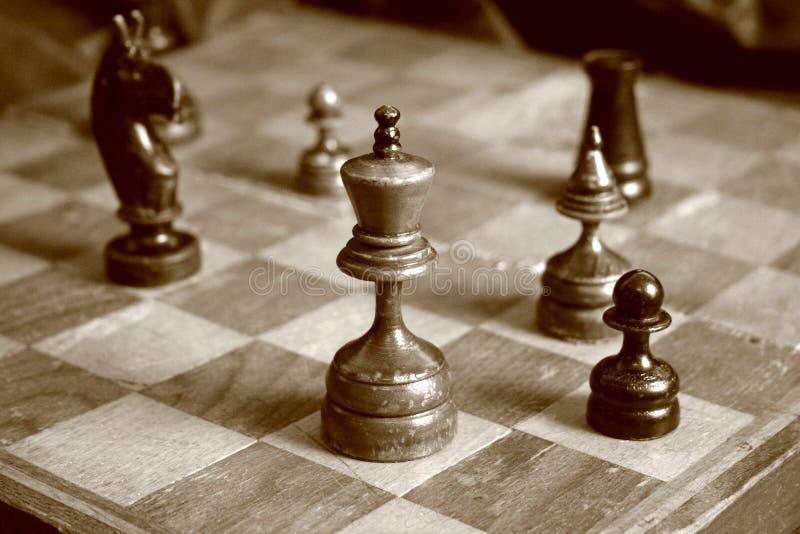 chessmen royaltyfri foto
