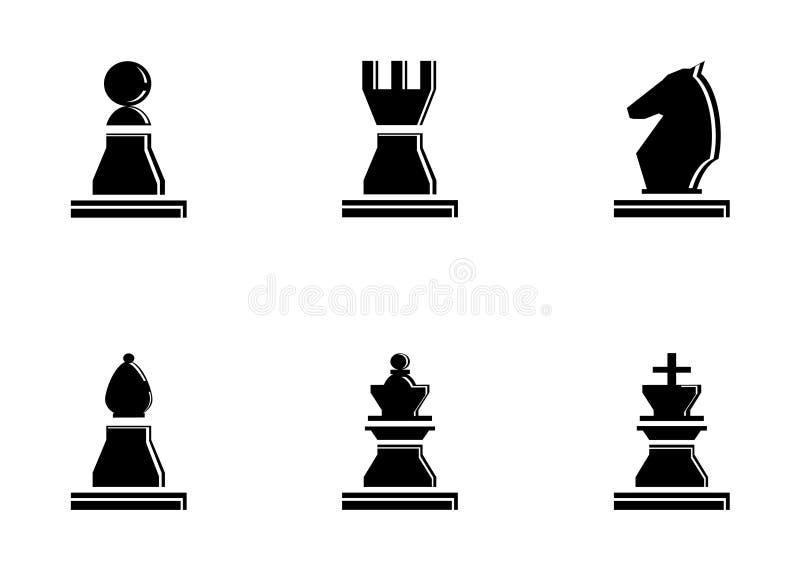 chessmen ilustración del vector