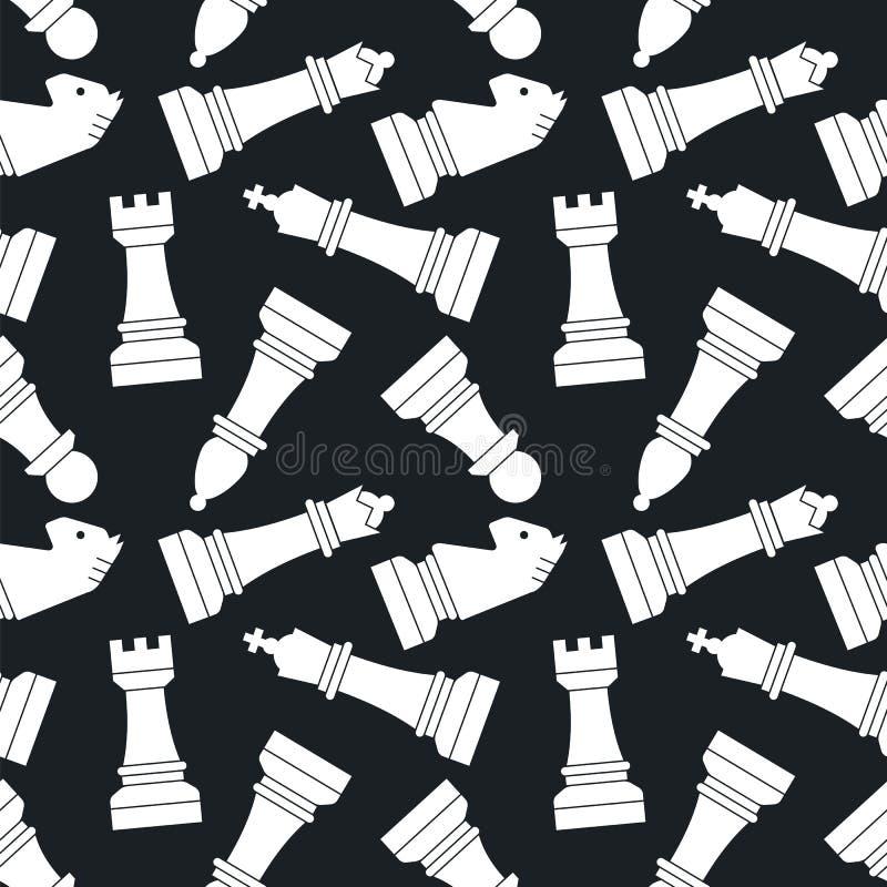 chessmen Modelo inconsútil del vector ilustración del vector