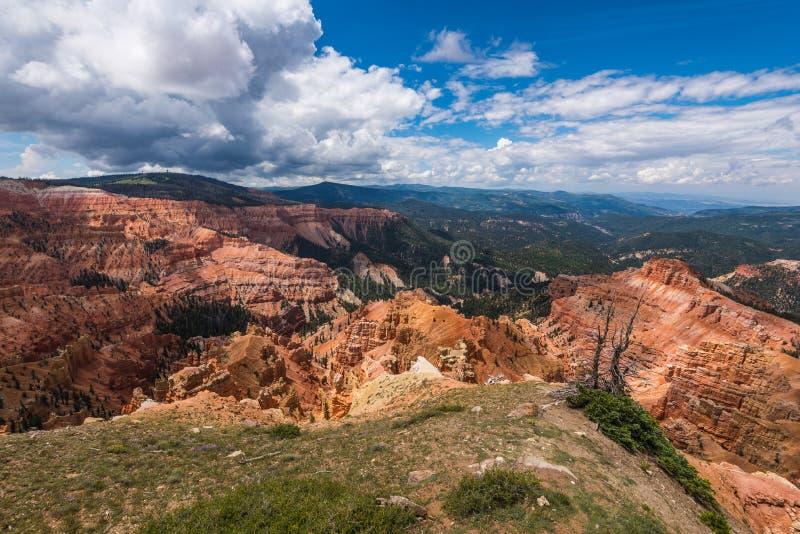 Chessmen Ridge Overlook, Cedar Breaks. Chessmen Ridge Overlook in Cedar Breaks National Monument in Utah, United States royalty free stock images