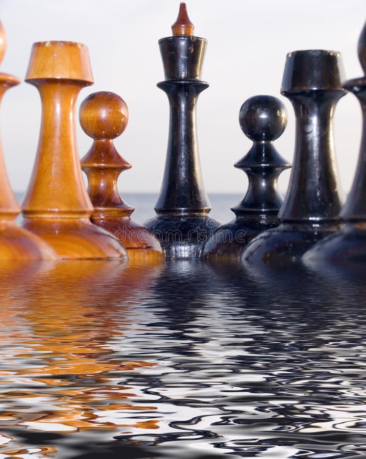 chessmenkombination stock illustrationer