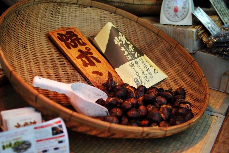 Chessnut - comida de la calle - japonés simple imágenes de archivo libres de regalías