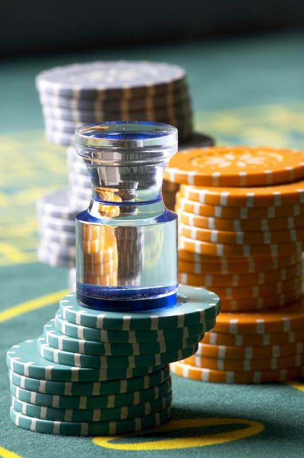 chesspieces na kasyno obrazy stock
