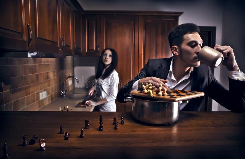 Chessplayer. Foto conceptual. imagen de archivo libre de regalías
