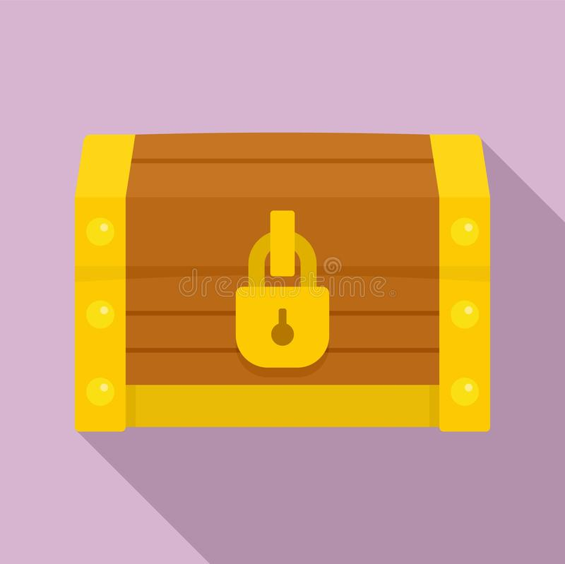 Chest dower icon, flat style. Chest dower icon. Flat illustration of chest dower vector icon for web design royalty free illustration