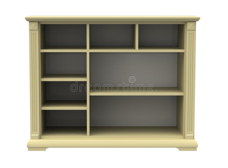 Chest of drawers. With shelves on a white background vector illustration