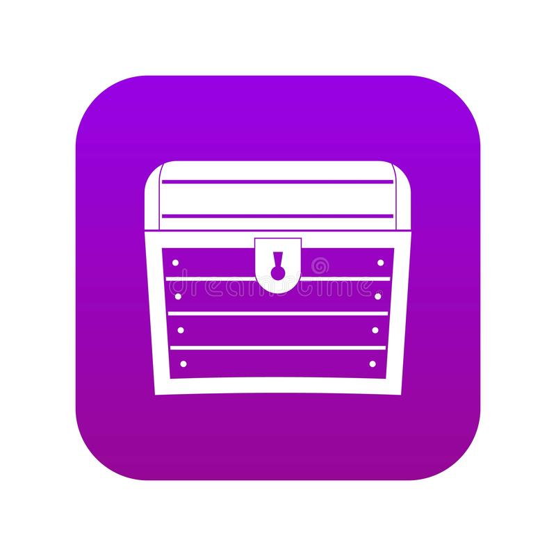 Chest icon digital purple. For any design isolated on white vector illustration vector illustration