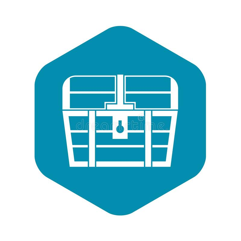 Chest icon, simple style. Chest icon. Simple illustration of chest vector icon for web royalty free illustration