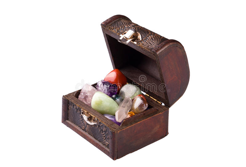 Download Chest of jewels stock image. Image of gemstone, retro - 28988591