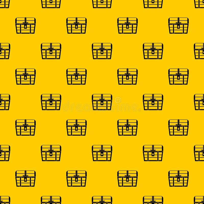 Chest pattern vector. Chest pattern seamless vector repeat geometric yellow for any design stock illustration